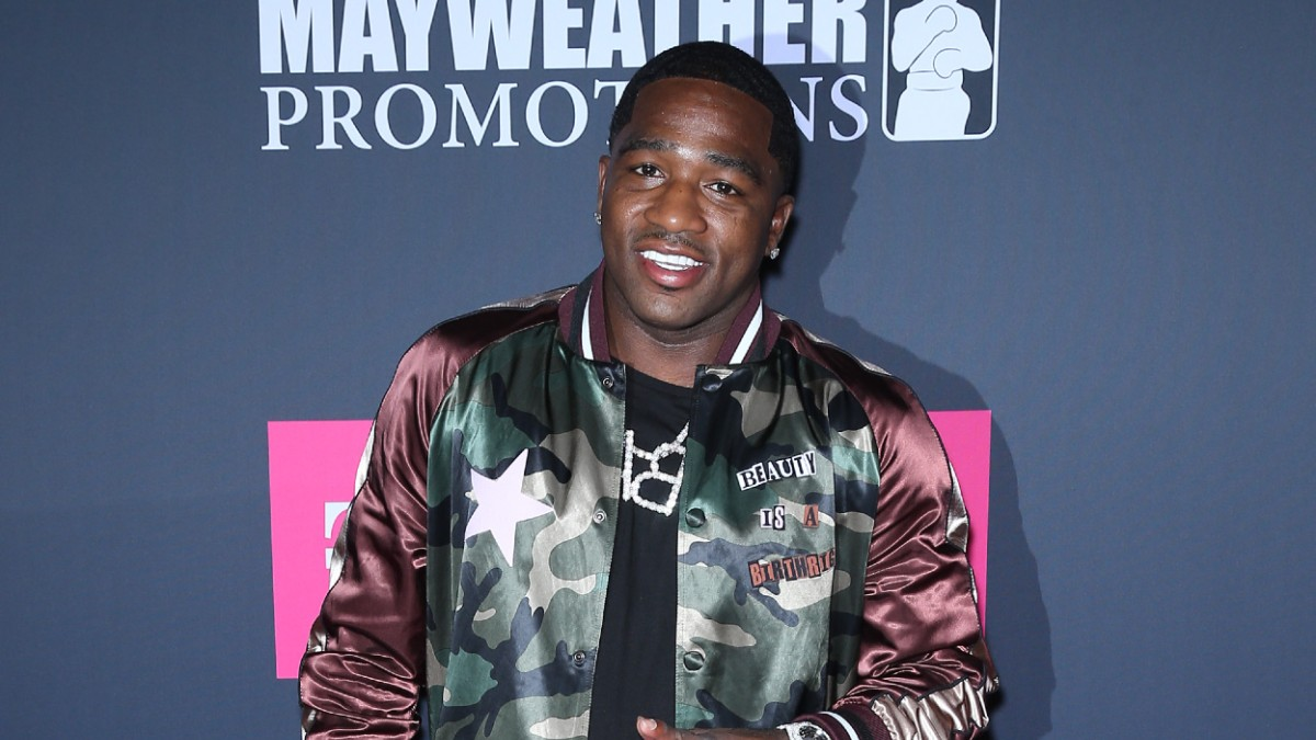 Adrien Broner on the red carpet