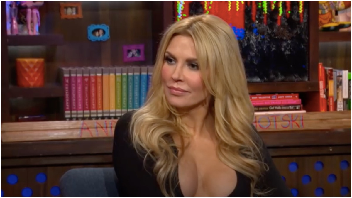 Brandi Glanville on Watch What Happens Live with Andy Cohen.