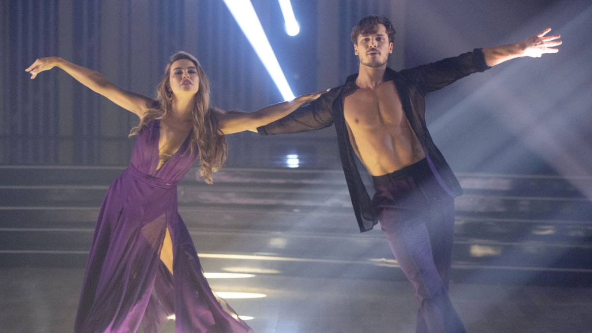 Chrishell Stausse and her partner Gleb Savchenko dance on DWTS.
