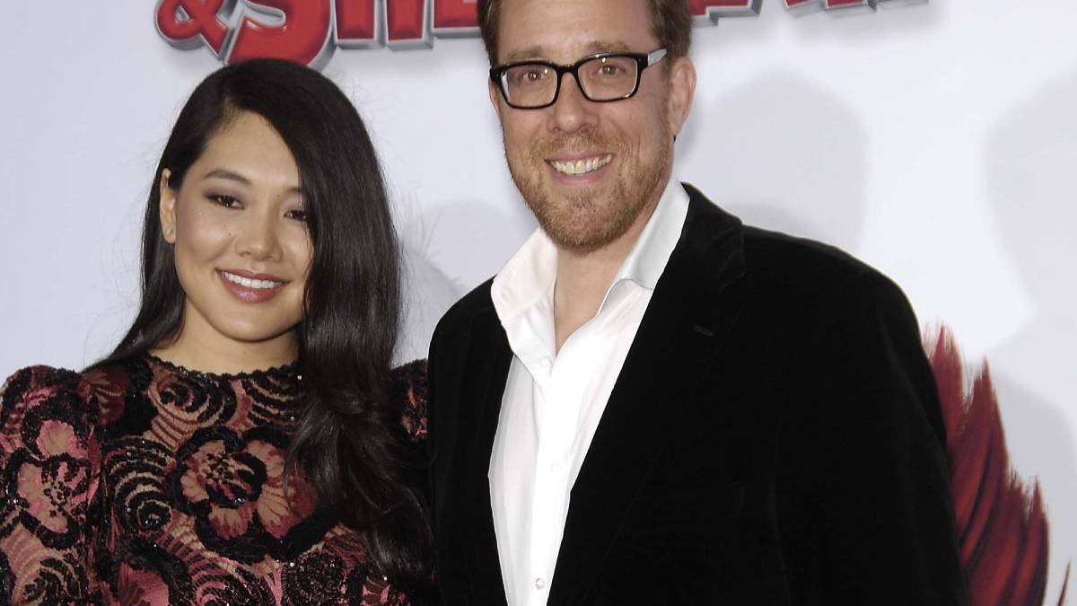 Crystal Kung and Rob Minkoff during the premiere of the new movie from Twentieth Century Fox and Dreamworks Amimation, MR. PEABODY & SHERMAN, held at the Regency Village Theatre, on March 5, 2014,