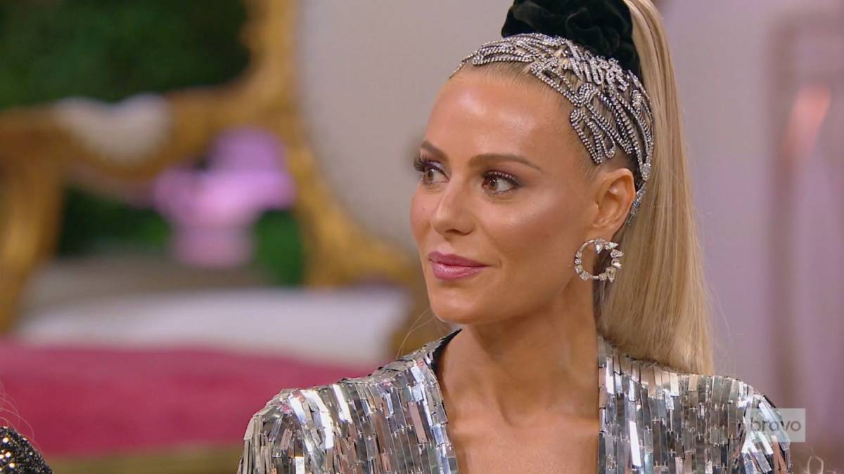 Dorit Kemsley sits for the RHOBH reunion.