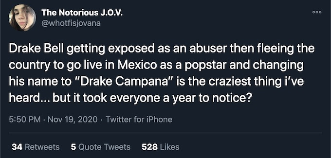 drake bell name change speculation on twitter