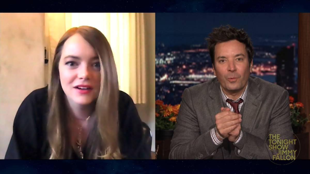 Emma Stone talks about RHOSLC on The Tonight Show Starring Jimmy Fallon.