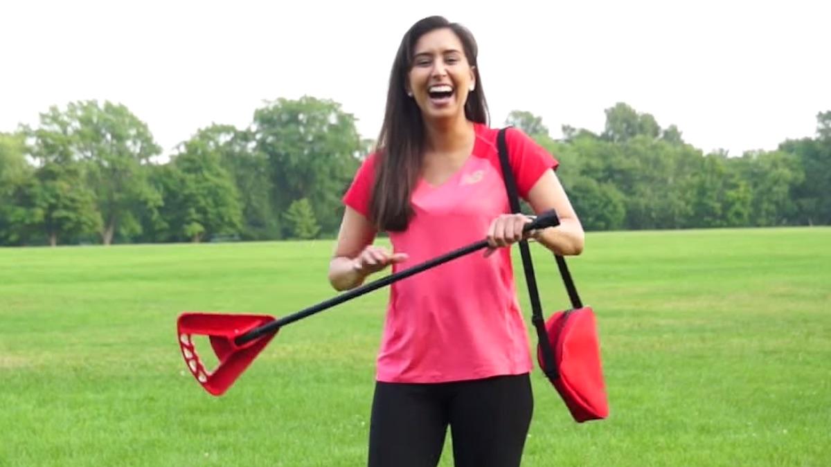 flipstick demonstration for walking stick seat