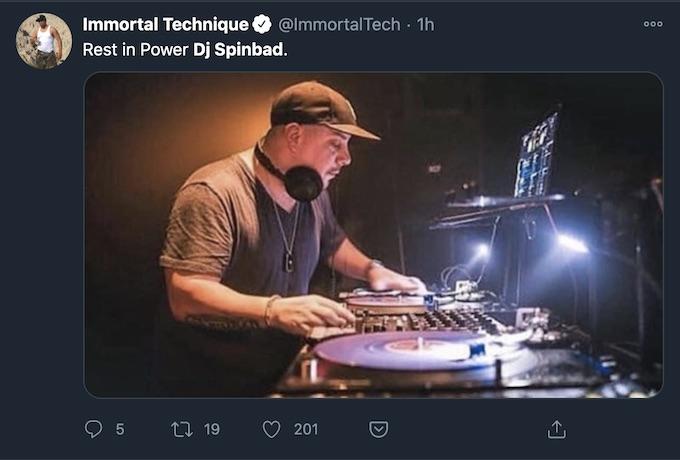 immortal technique tweets about dj spinbad