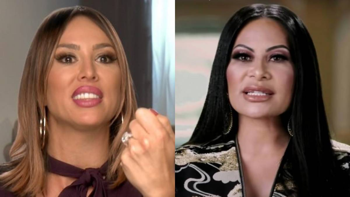 Kelly Dodd and Jen Shah in separate confessional interviews side-by-side.