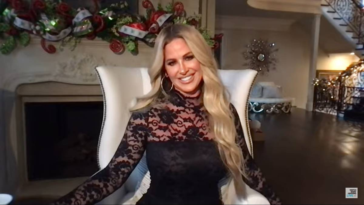 Kim Zolciak-Biermann virtually answers question on WWHL.