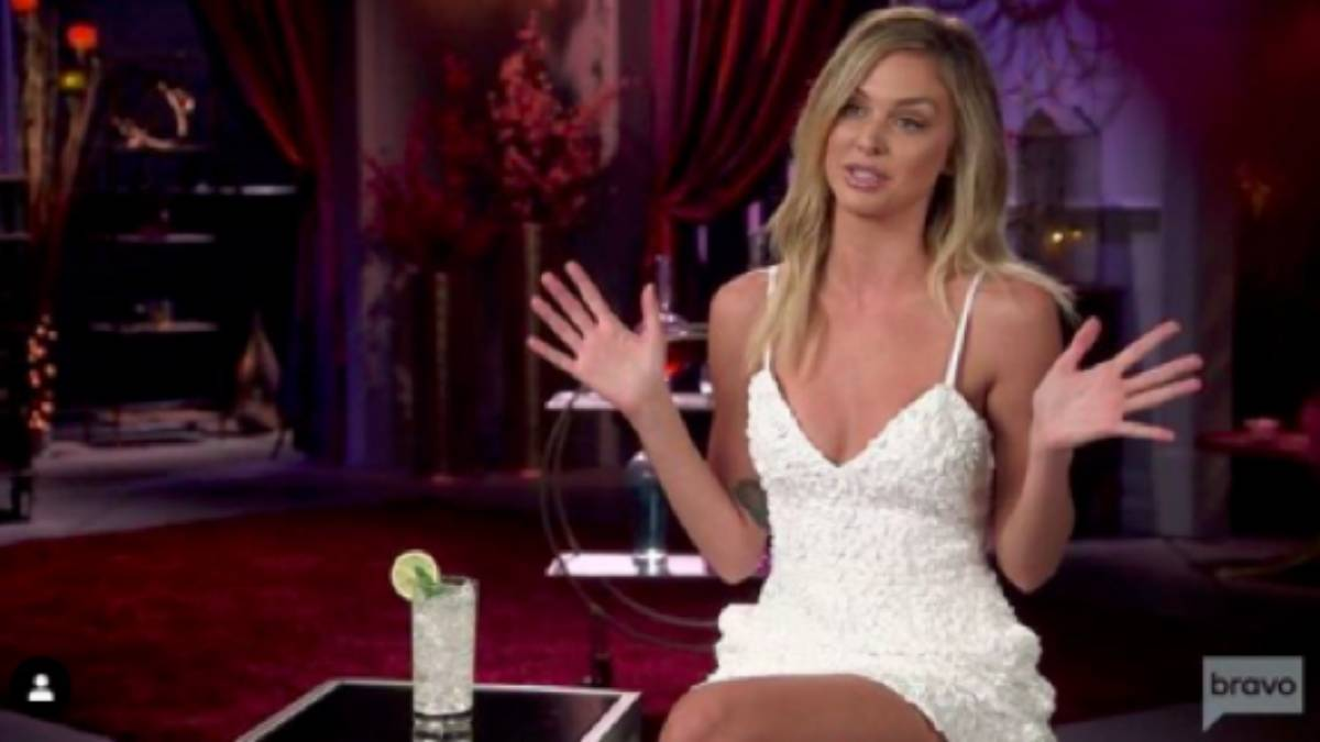Lala Kent sits for a confessional interview for Vanderpump Rules