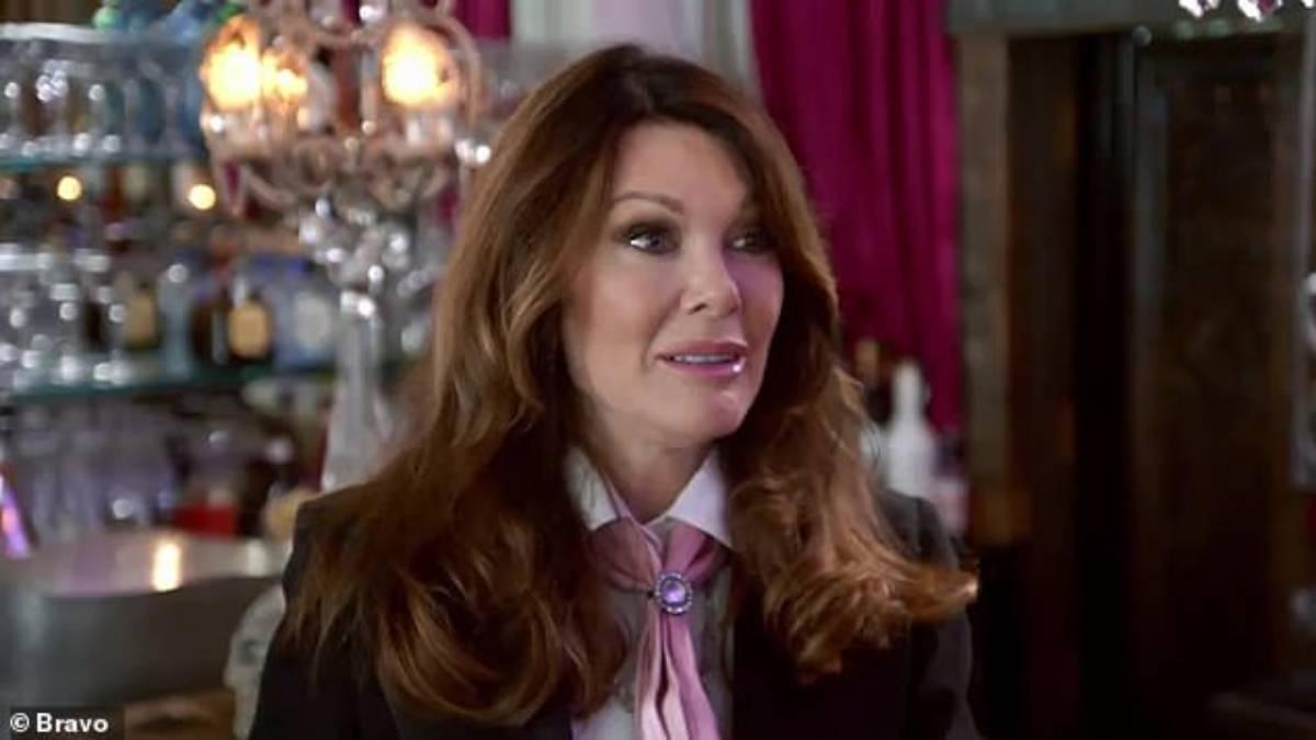 Lisa Vanderpump films in her restaurant Pump for Vanderpump Rules.
