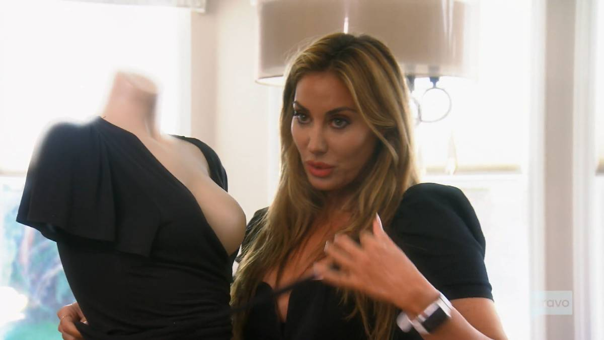 Lizzie Rovsek works on her swimwear collection with Emily Simpson on RHOC.