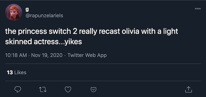 olivia recast for princess switched 2 switched again