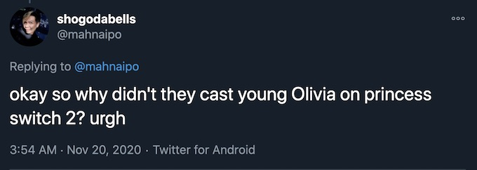 olivia switched again recast role