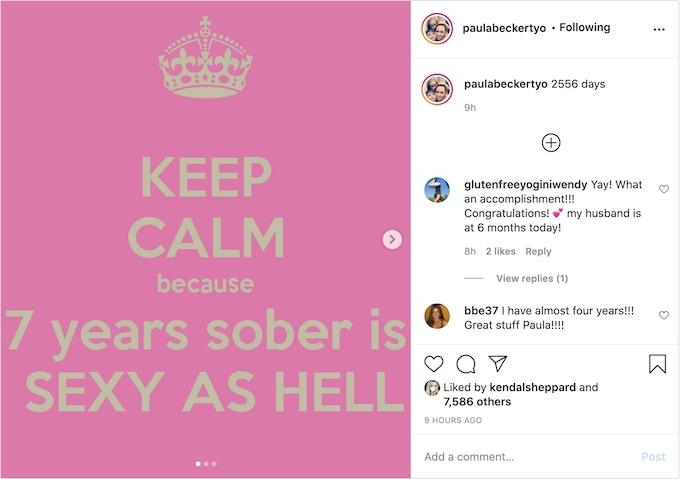 paula shares milestone on instagram