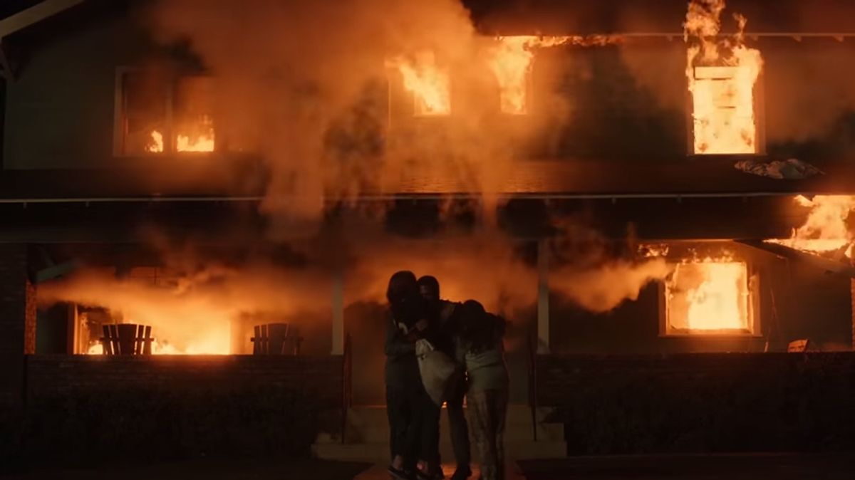 The Pearson home burst into flames on This Is Us