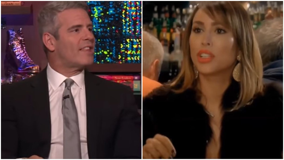 Andy Cohen of Bravo and Kelly Dodd of RHOC