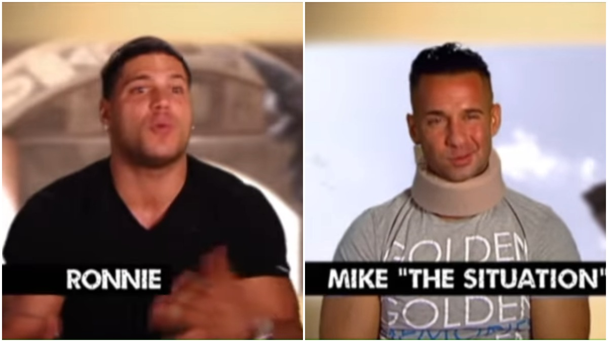 Mike and Ronnie get into a brawl while in Italy and Mike slammed his head into the wall