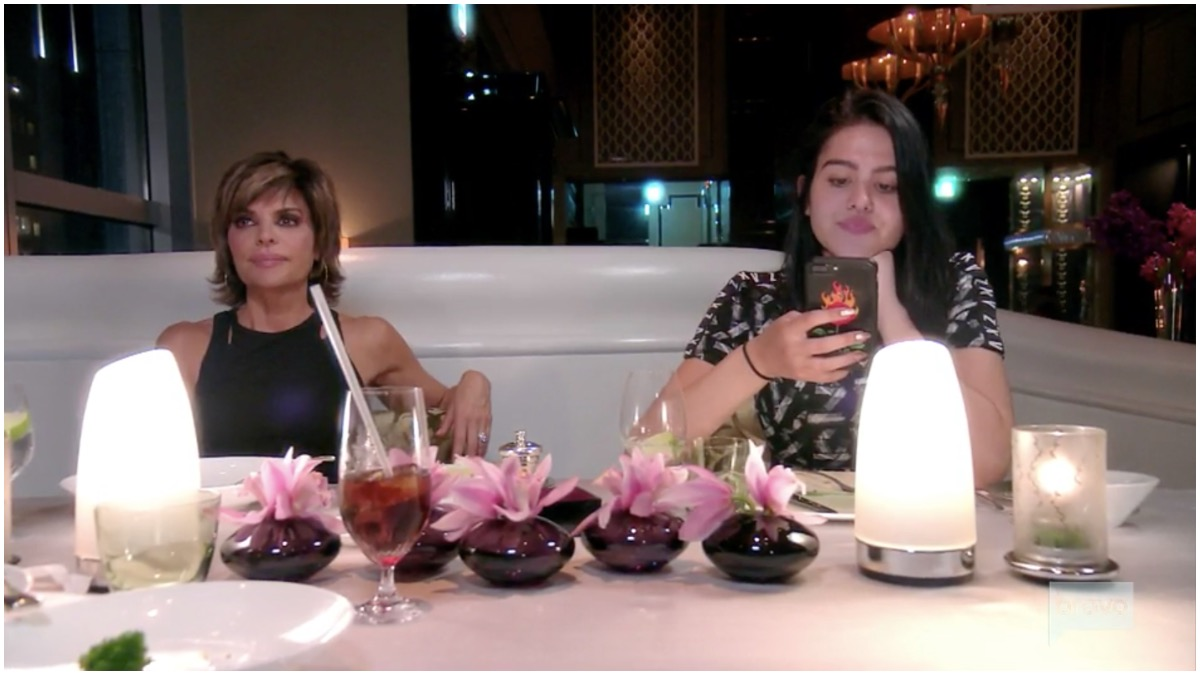Lisa Rinna and her daughter Amelia on the RHOBH.