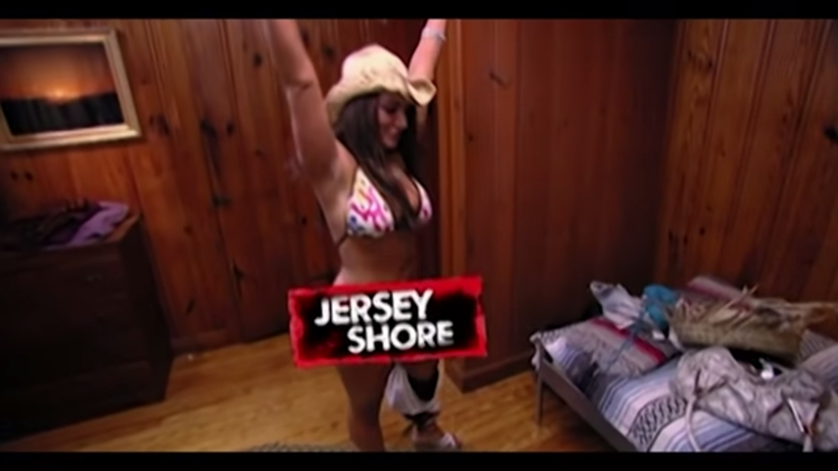 Deena on her first night at the Jersey Shore house. Pic credit: MTV