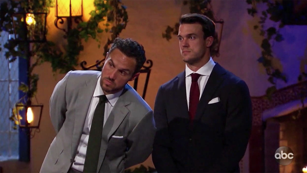 Bachelorette Tayshia's final two Ben and Zac Clark checking to see if Ivan is gone