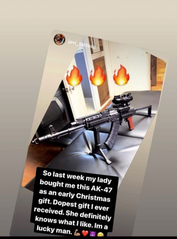 Briana DeJesus shares photo of AK-47 she bought for her boyfriend Javi