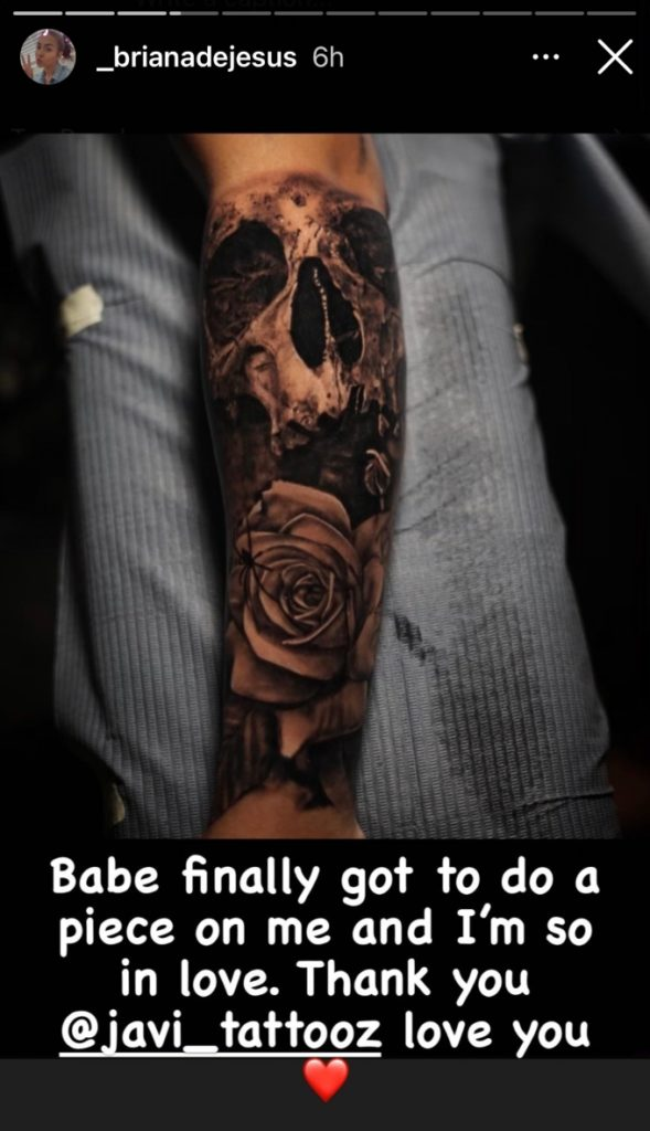 Briana DeJesus shows off new sleeve tattoo