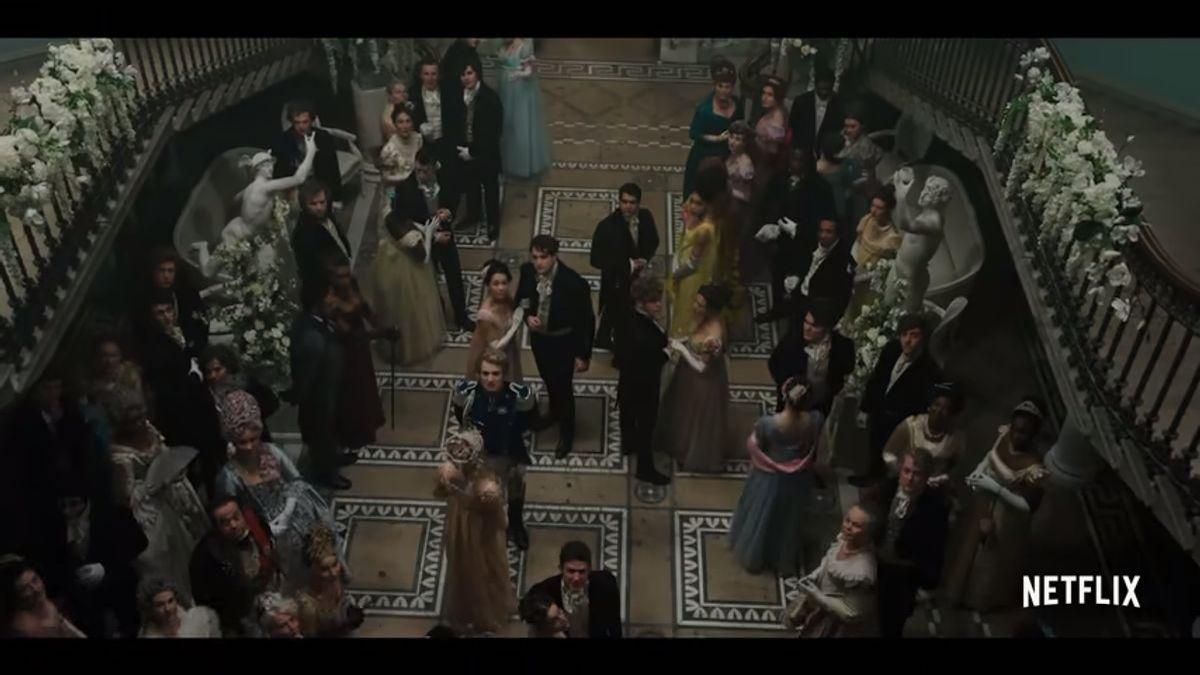At the ball on Bridgerton