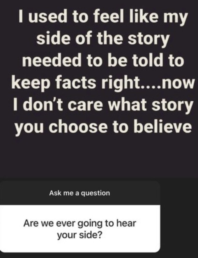 Chris Lopez responds to a fan question during Instagram Q and A