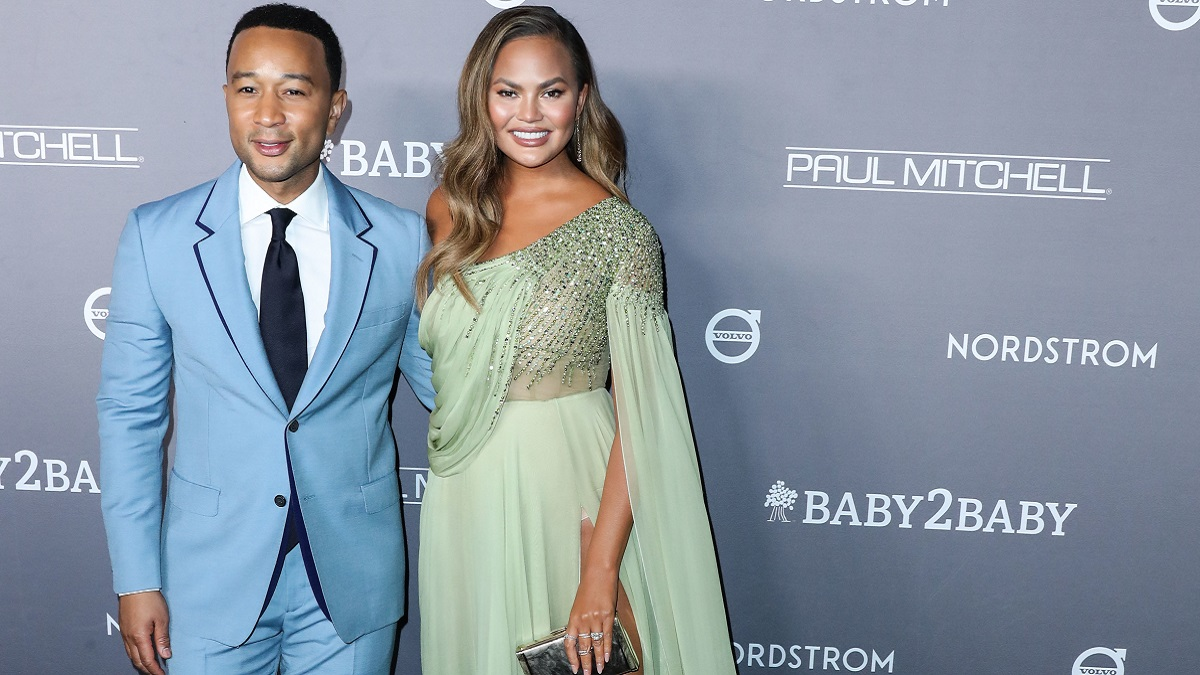 Model Chrissy Teigen and John Legend