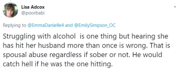Fan reacts to Emily Simpson's post