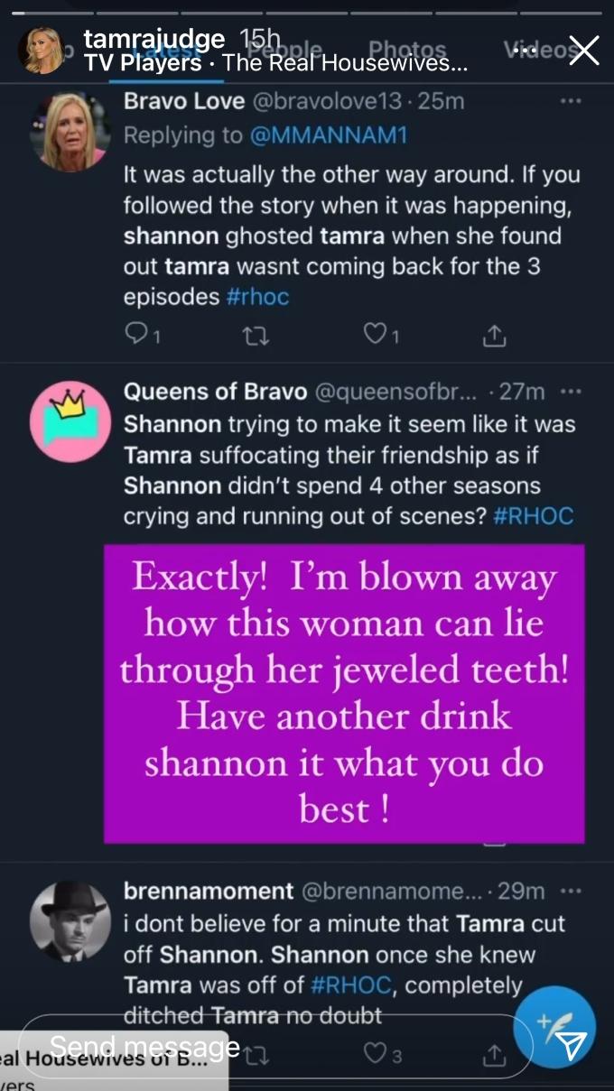 Tamra Judge blasts former friend Shannon Beador