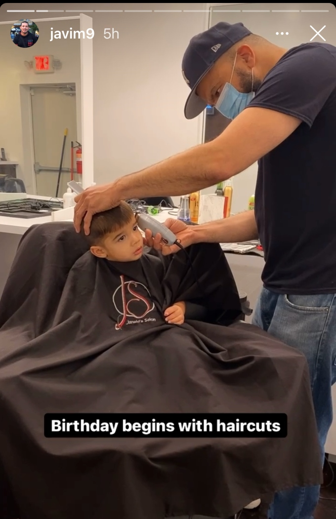 Javi Marroquin starts off his birthday by taking Eli to get a haircut