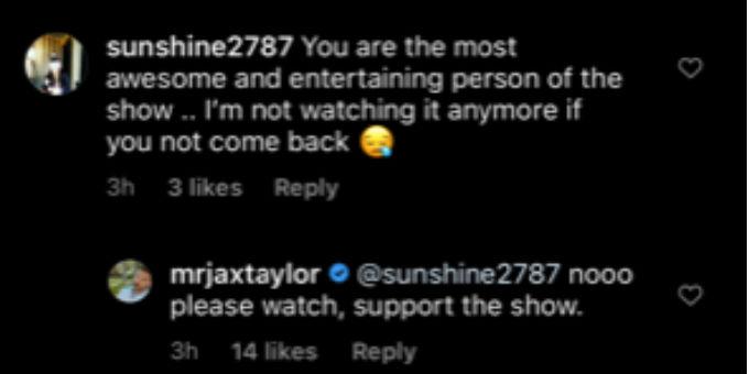 Jax wants fans to still watch Vanderpump Rules.