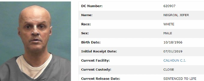 Jefer Negron's inmate details