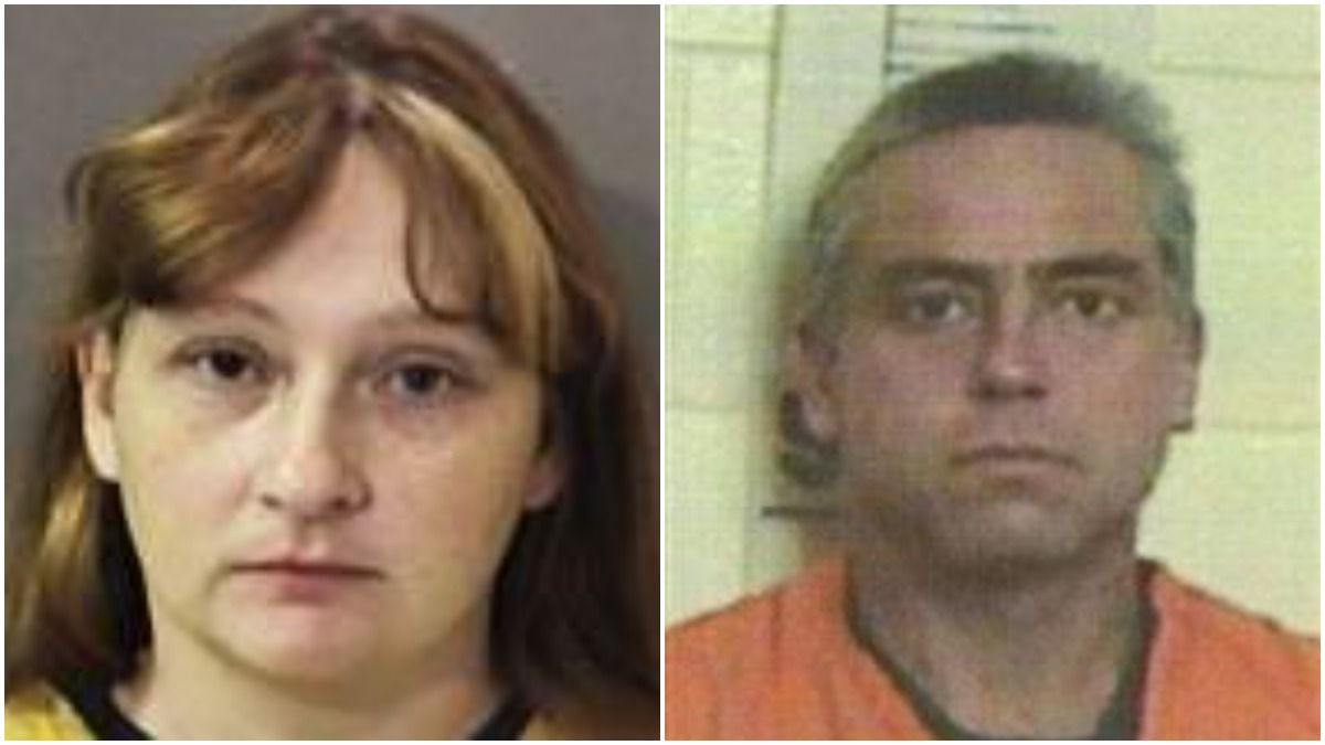 Mugshots of Joanna McElrath and Robin James