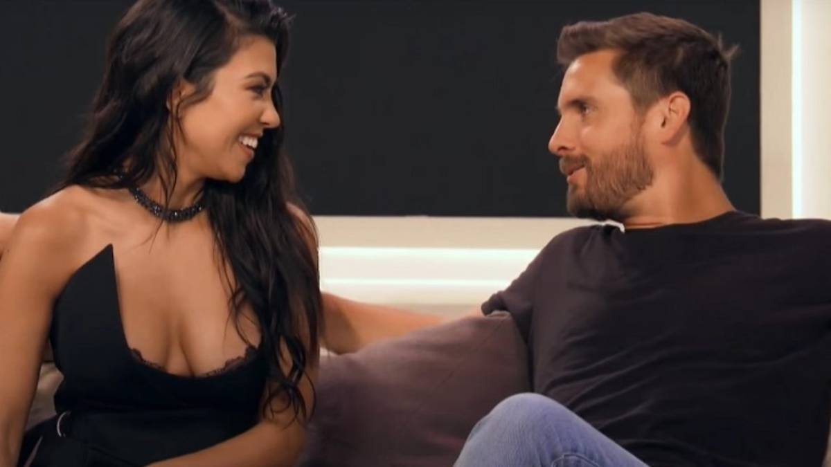 Kourtney Kardashian and Scott Disick film for KUWTK.