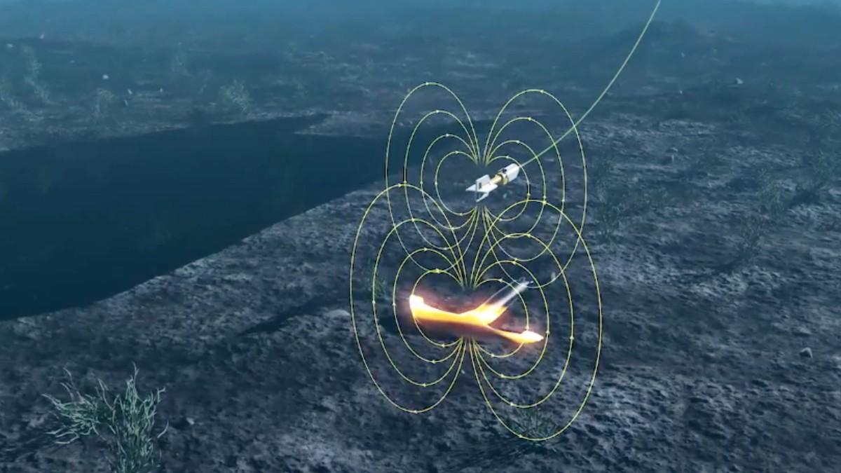 Magnetometer scans for shipwrecks