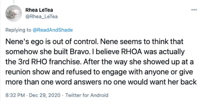 Twitter fan bash NeNe Leakes