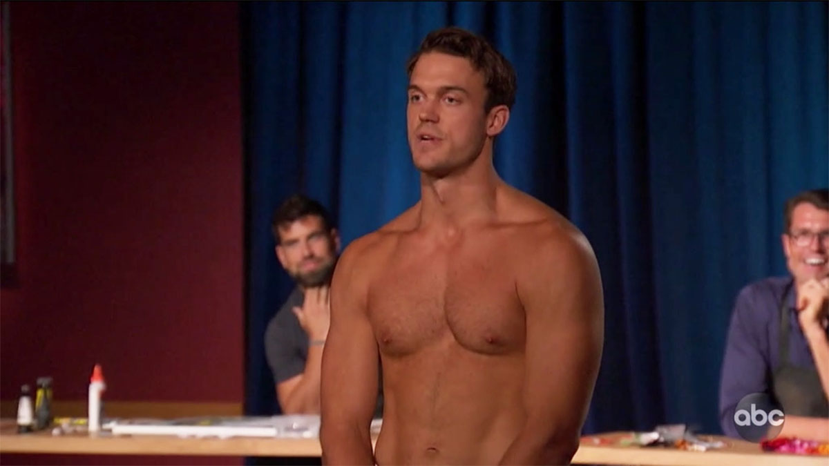 Ben from The Bachelorette standing up naked