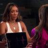 The Bachelorette Tayshia taking a lie detector test on last night's episode 9