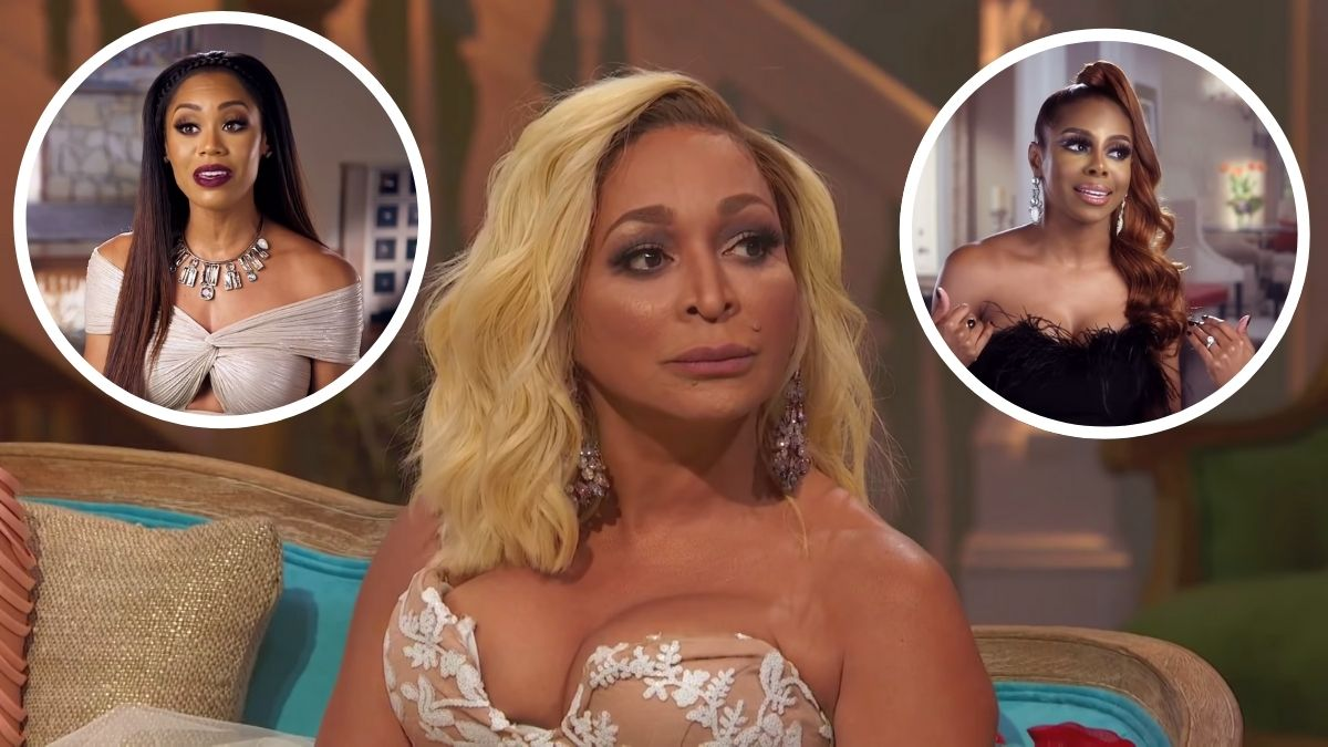 RHOP cast members confront Karen Huger about her stance on Monique and Candiace