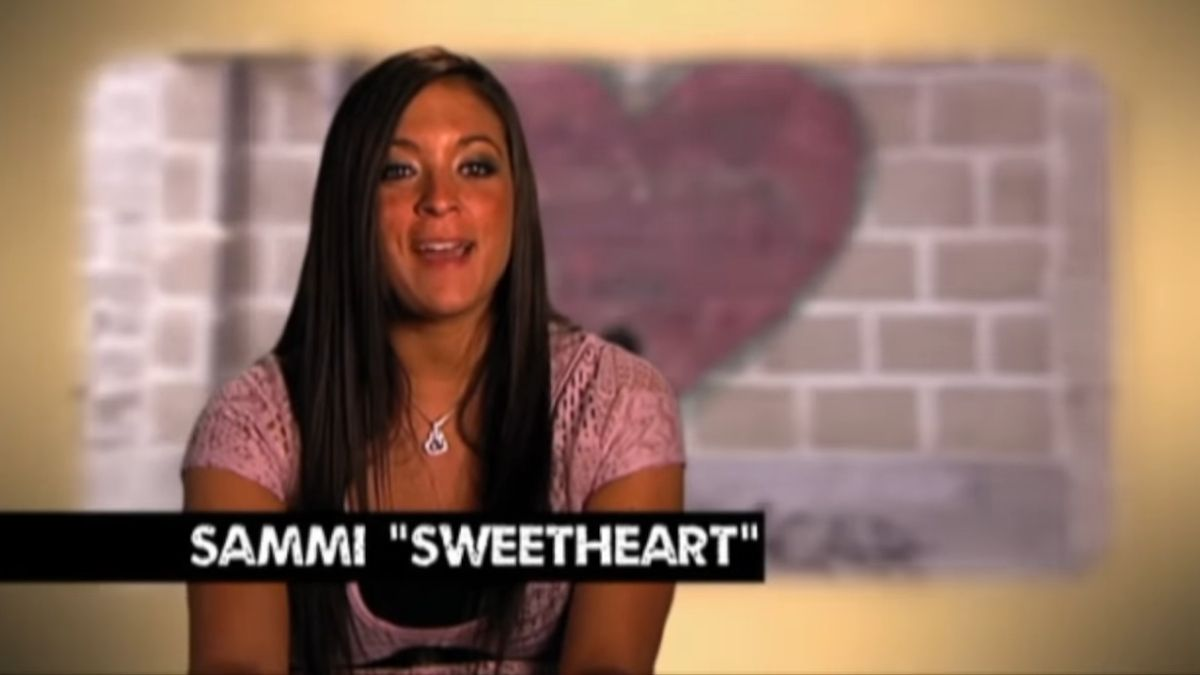 """Sammi """"Sweetheart"""" Giancola during an episode of Jersey Shore"""