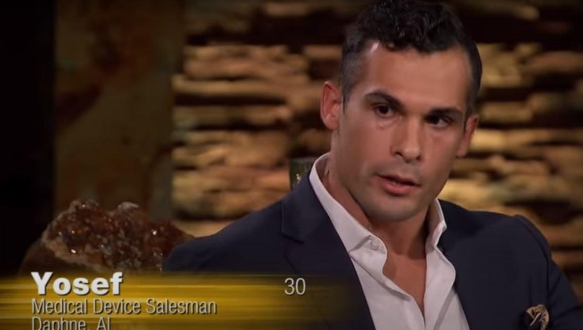 Yosef Aborady looking serious while speaking