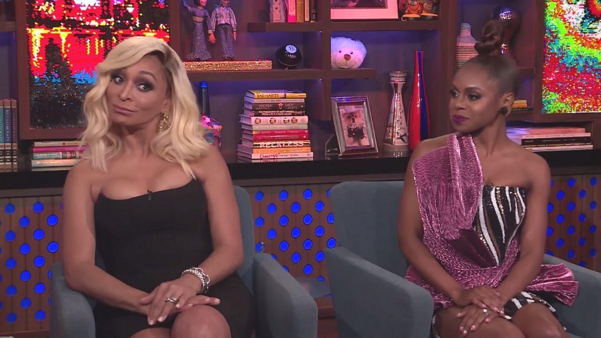 Castmates Candiace Dillard and Karen Huger face off during RHOP reunion