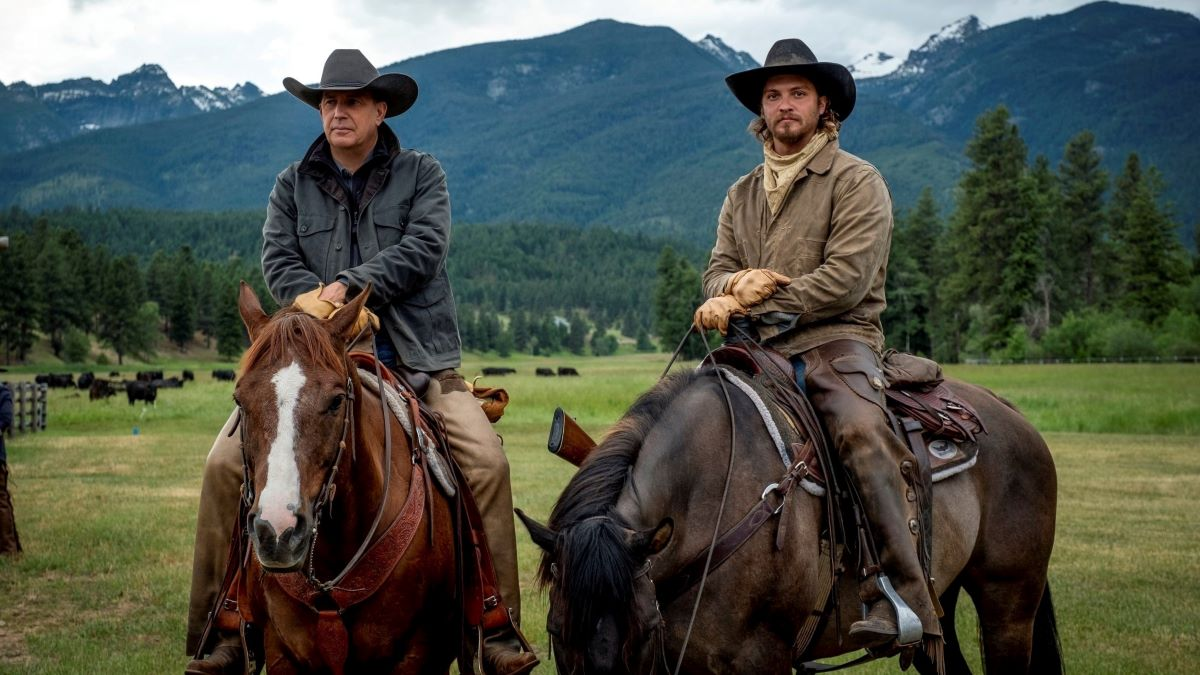 Kevin Costner, Luke Grimes from Yellowstone