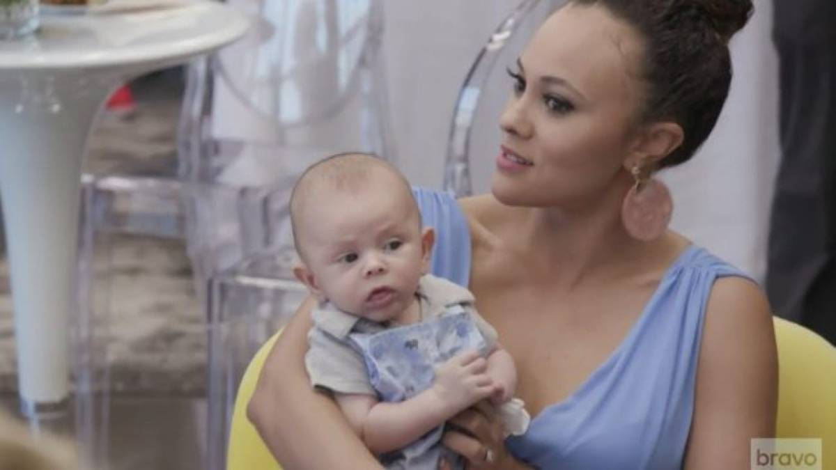Ashley Darby holds her baby Dean on RHOP on Bravo.