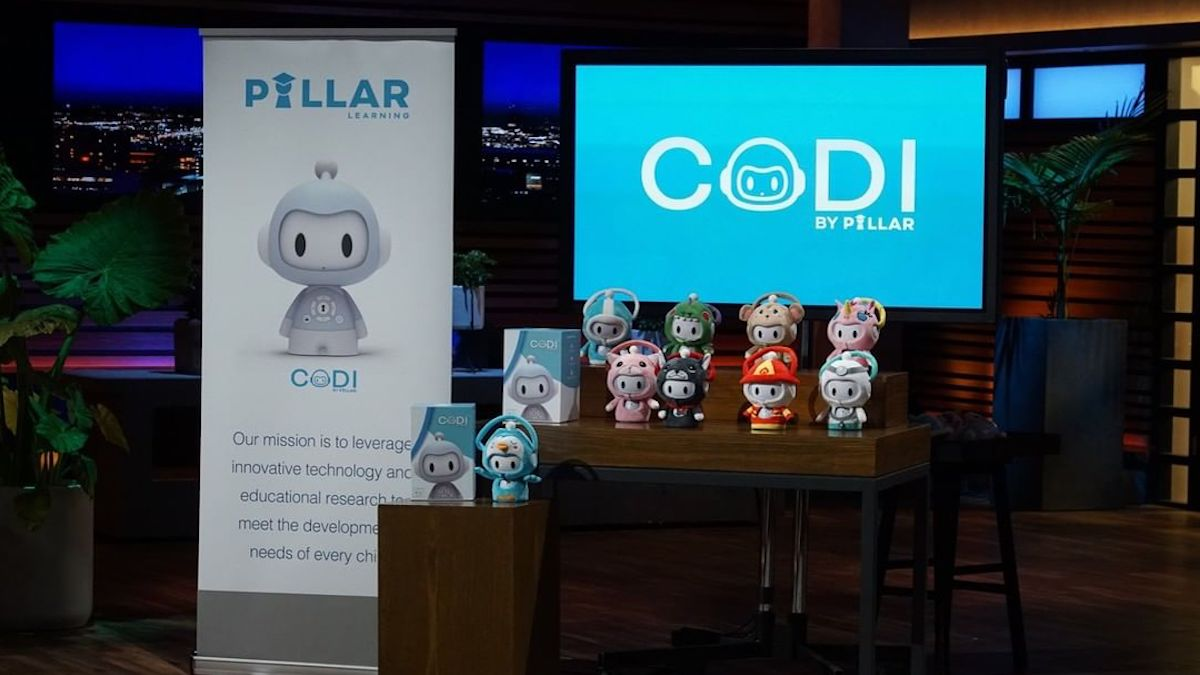 codi on shark tank what pillar learning robot does and where to buy
