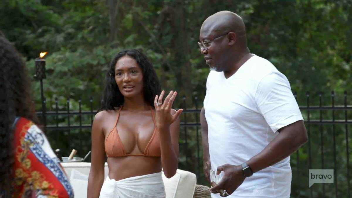 Falynn Guobadia and her husband Simon film for RHOA.