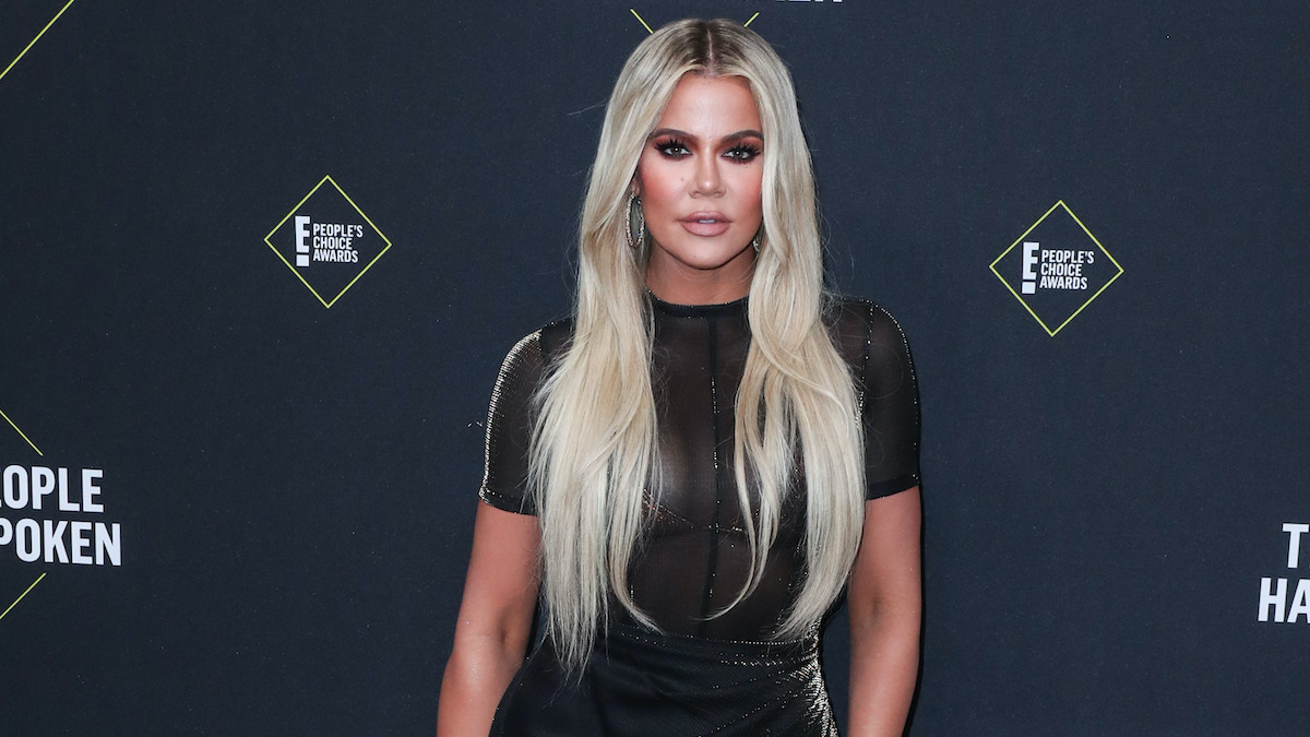 khloe kardashian at 2019 peoples choice awards