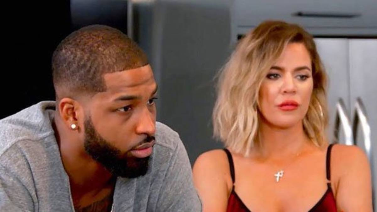 Khloe Kardashian and Tristan Thompson film for KUWTK.
