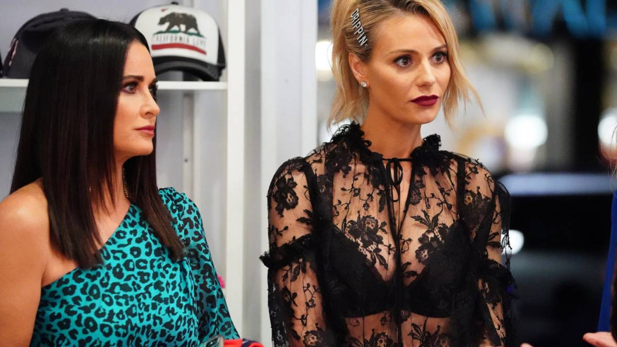 Kyle Richards and Dorit Kemsley film for RHOBH.